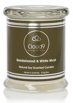 Cloud Nine Sandalwood and White Musk Scented Candle