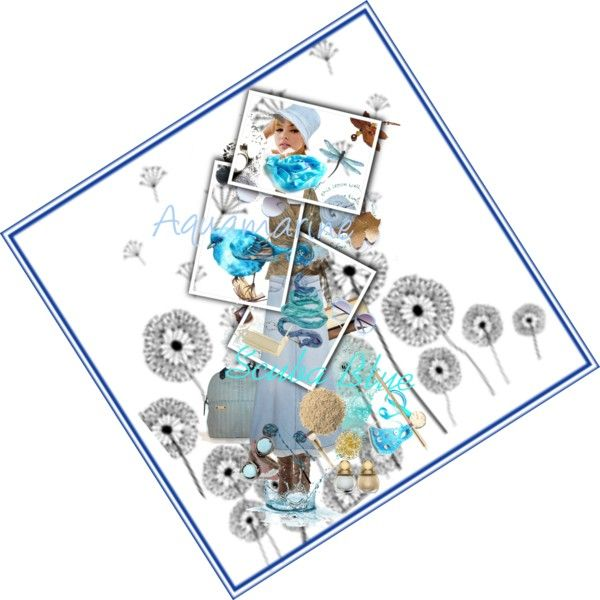 """Fashion colors Aquamarine & Scuba Blue"" by erika-hodi-horvathne on Polyvore"
