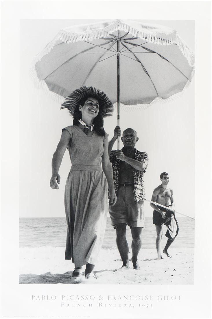 Poster: Pablo Picasso & Francoise Gilot - French Riviera, 1951