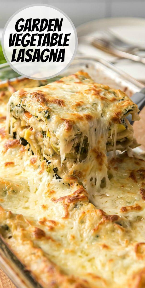 Garden Vegetable Lasagna Recipe In 2020 Vegetable Lasagna Recipes Veg Lasagna Recipe Veg Lasagna Recipe Indian
