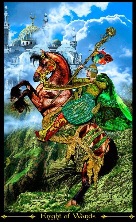 Resultado de imagem para knight of wands tarot