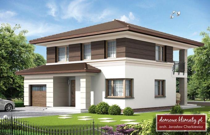 Projekt domu Kasjopea, wizualizacja 1