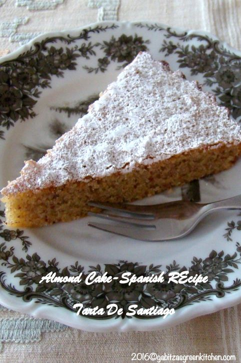 Almond Cake- Gluten free recipe- Authentic Spanish Recipe of Tarta De Santiago