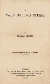 Racconto di due città (A Tale of Two Cities) è un romanzo storico di Charles Dickens del 1859. Con Barnaby Rudge, è l'unico romanzo storico scritto da Dickens. Con più di 200 milioni di copie, è considerato il libro più venduto di sempre (esclusi testi religiosi e politici, la cui tiratura precisa è difficile da determinare).    Il romanzo venne pubblicato sulla rivista All the Year Round in 31 puntate settimanali, la prima apparsa il 30 aprile 1859 e l'ultima il 26 novembre del medesimo…