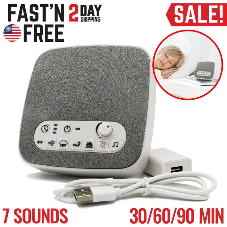 Sound Machine White Noise Generator Spa Easy Sleep Baby ...