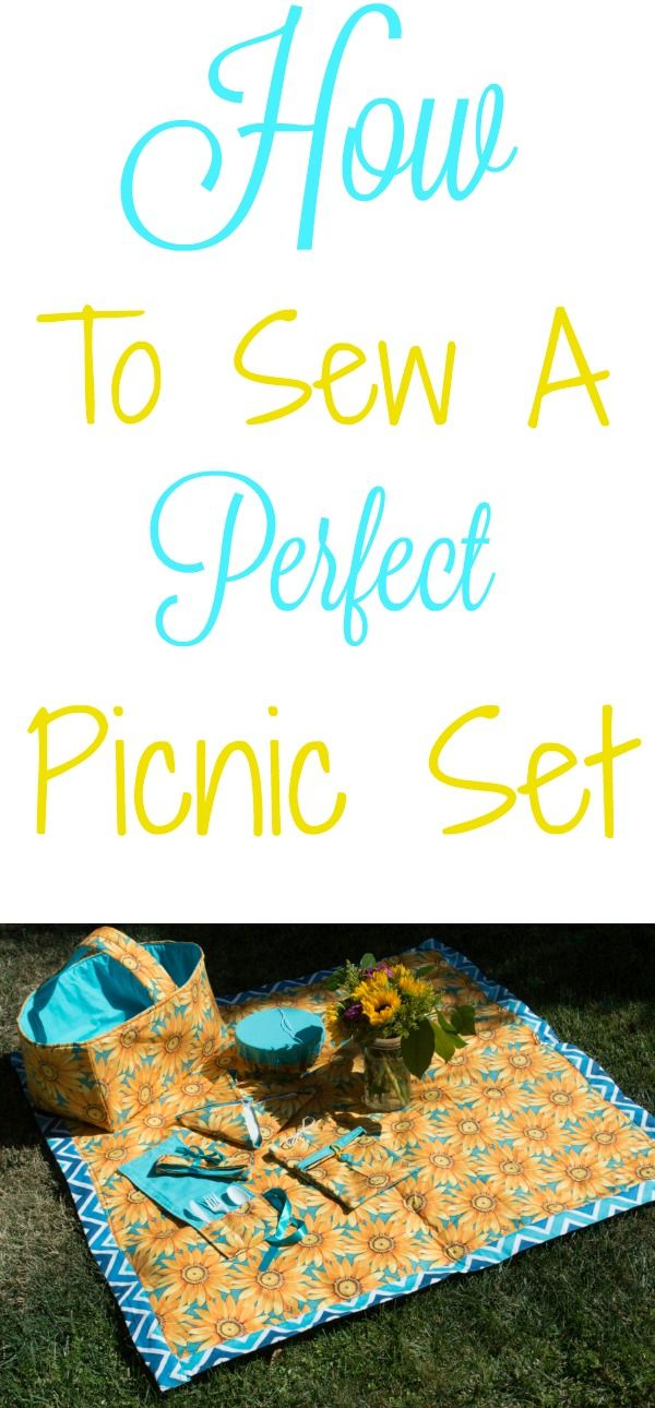 How to sew the perfect picnic basket set.  #sewing #tutorial #picnic #picnicbasket