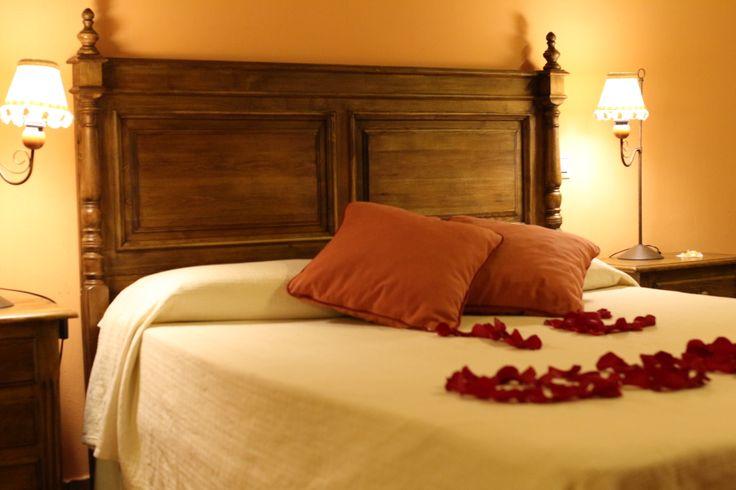 Detalle de la cama en San Valentín.
