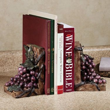 grape harvest bookend pair 5500 3975 tuscan kitchen decortuscan kitchenstuscan - Maroon Kitchen Decor