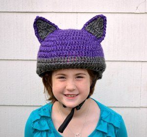 Reflective Bike Helmet Cover - free crochet pattern