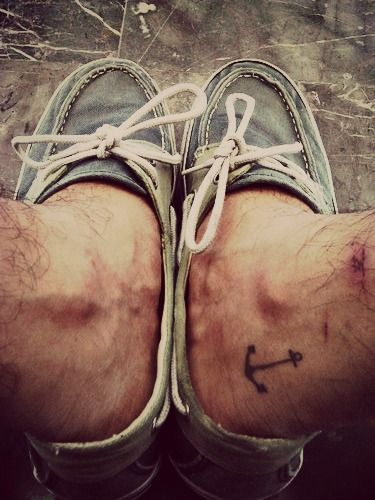 Anchor Tattoo ankle... on a guy! :) just as awesome