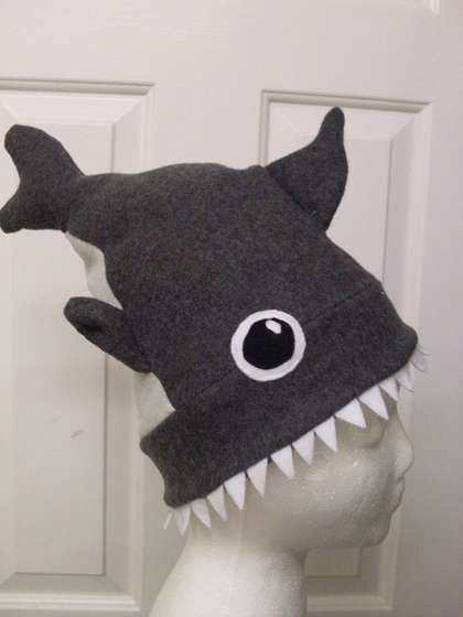 "Super cute hat ""shark attack"" hat tutorial on @Instructables!"