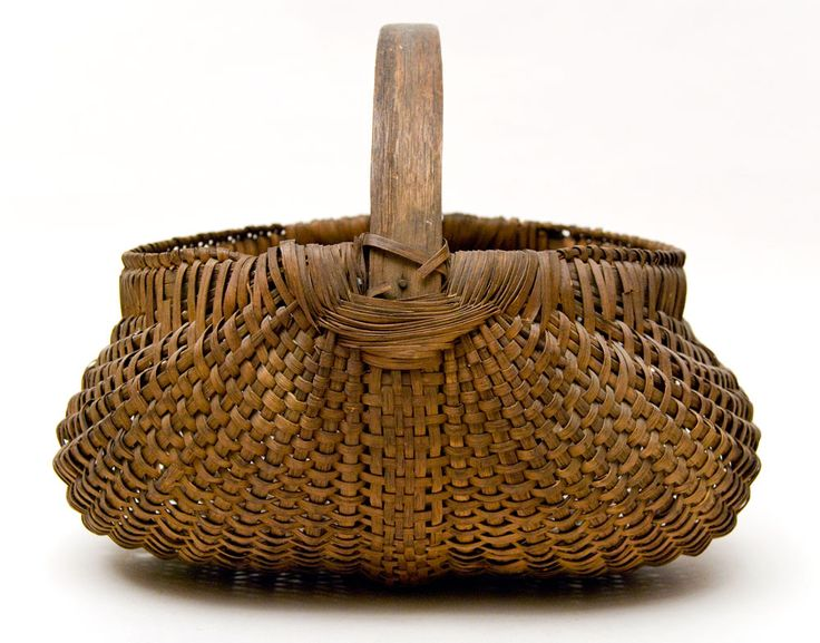 baskets | Antique Buttocks Basket: American, Late 19th Century Basket For Sale
