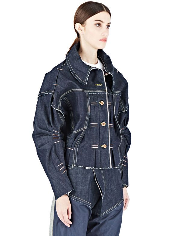 Hannah Jinkins Raw Denim Trucker Jacket