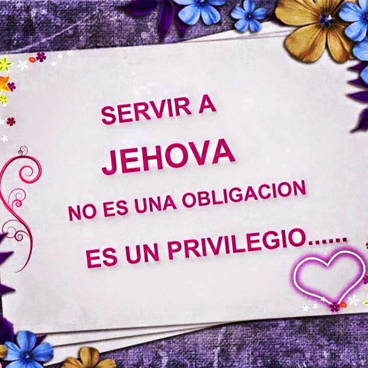 Serving Jehovah is not an obligation. It's a privilege!