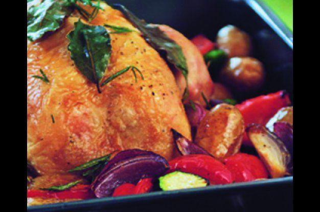 Pečené kuře s rozmarýnem