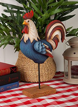 All American Rooster by MaryJo Tuttle. Exclusive resin surface and Free Download packet available at www.ArtistsClub.com