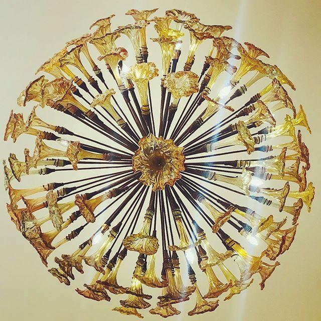 Golden Light Custom Chandelier By Kitengelahotglass From