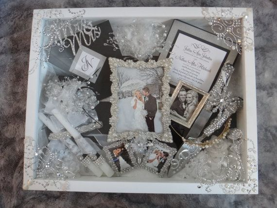 OMG!!! Beautiful wedding shadow box on ETSY!! A must-have for any wedding or wedding gift!!