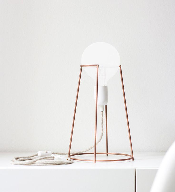 Lampe Agraffé Cuivre ENO Studio