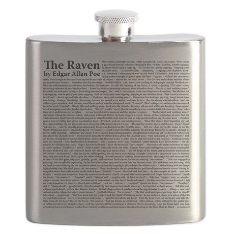 The Raven by Edgar Allan Poe Flask on CafePress.com