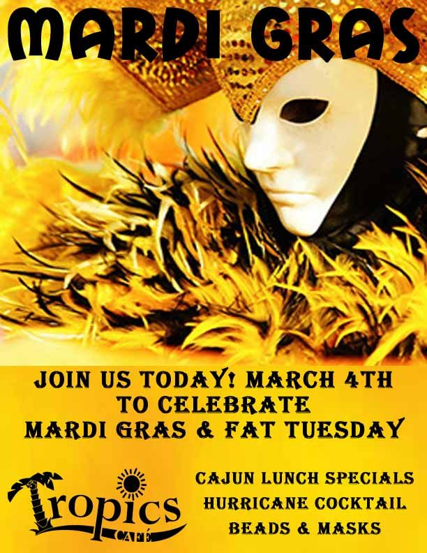 Mardi Gras at Tropics Cafe
