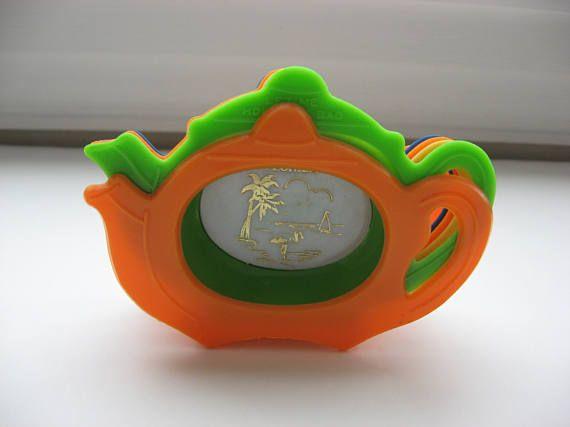 RARE Old Florida Souvenir Tea Bag Rest Set// Collectible