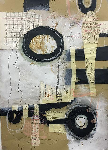 Circumstances, Mixed Media Collge on paper, 42,5 x 59 cm, 2015 | von Ellen Ribbe