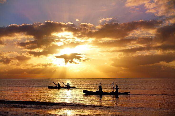 Sea-kayaking at sunrise...