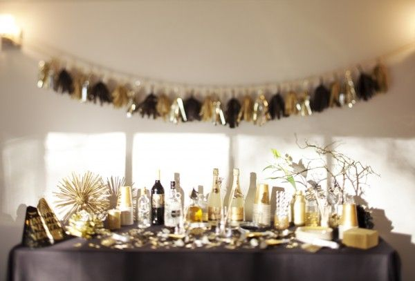 un superbe table/buffet de nouvel an
