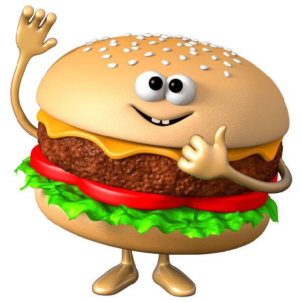прикольный рисунок еды фотографию