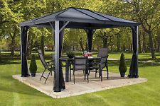 10 x 12 Aluminum Gazebo Outdoor All Weather Steel for Patio Sets Hot Tubs Spa