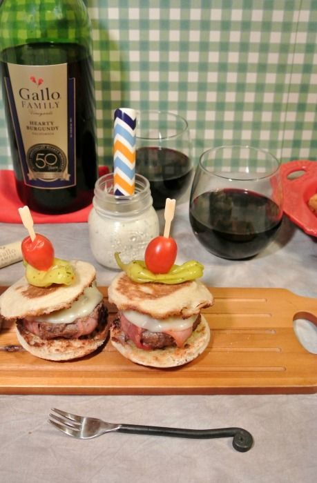 These Bacon Wrapped Bison Burger Sliders are a perfect Game Day favorite. #SundaySupper