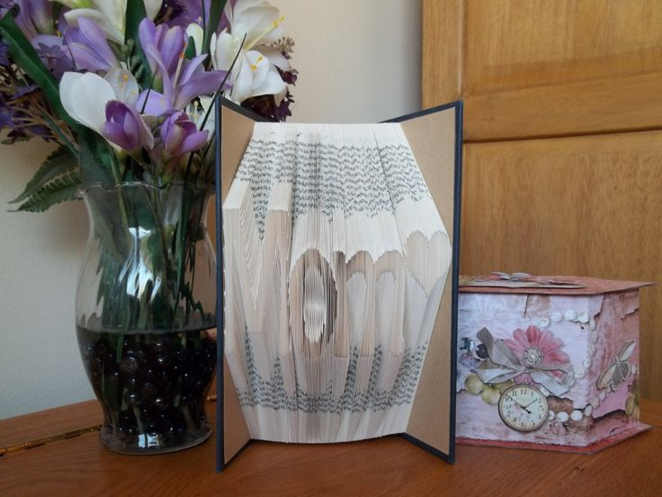 Folded Book Art, Mom, Book Sculpture, Birthday Gift for Mom, Mother of the Bride Gift, Mother of the Groom Gift, Christmas Gift for Mom - pinned by pin4etsy.com