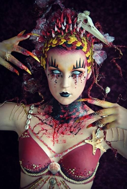 sea witch makeup - Google Search