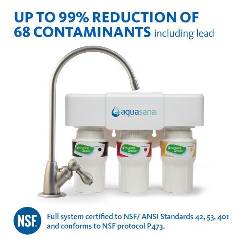 Aquasana AQ-5300.55 3-Stage Under Sink Water Filter System with Brushed Nickel 1
