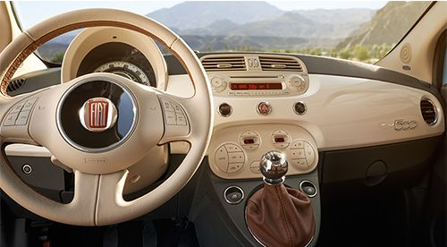 fiat 500 interior, inside, stylish car, love it