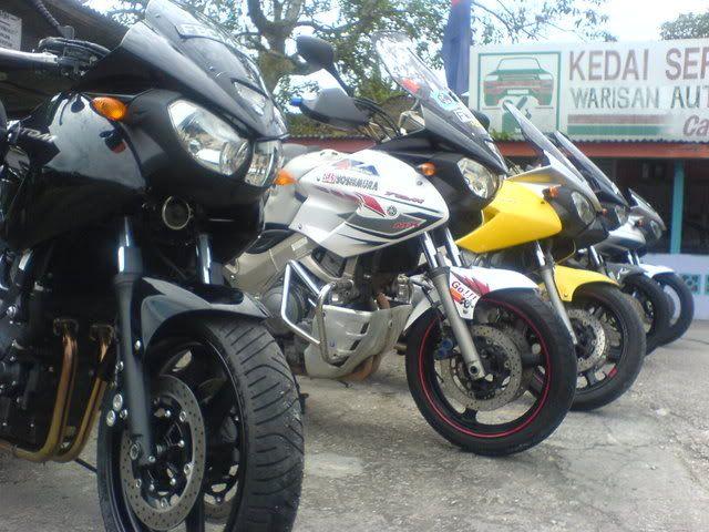 Suzuki handguards and custom crash bars