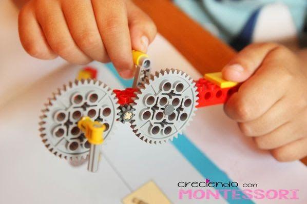 Lego Education 9689 Máquinas Simples - ENGRANAJES - Creciendo con Montessori