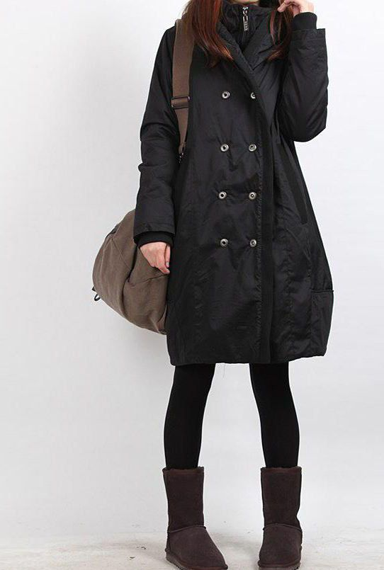 winter hoodie babydoll padded Long tunic Quilted Coat.
