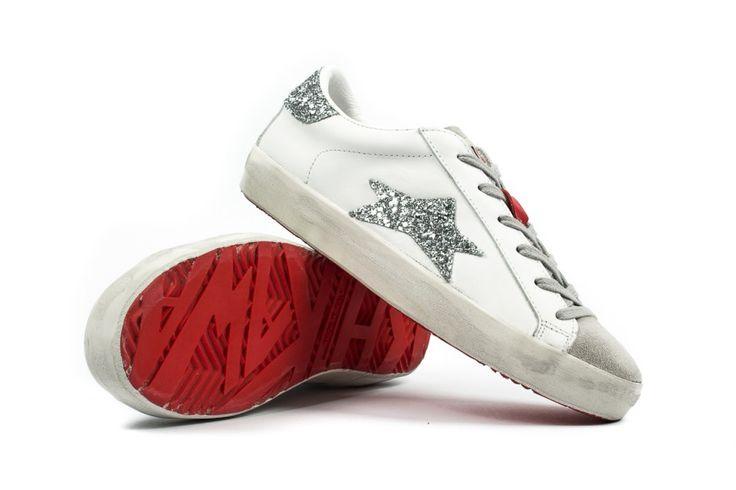 Ishikawa scarpe basse stella glitter argento immagini