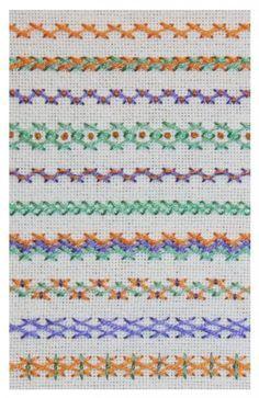 Variaciones de caballito / Herringbone stitch variations #embroidery #stitches #herringbone