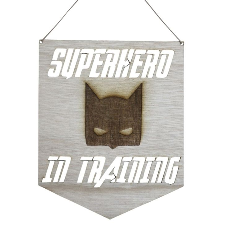 Wooden+Pennant+-+Superhero+In+Training+by+Anrol+Designs+on+POP.COM.AU