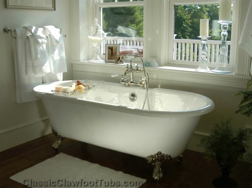 gorgeous bathroom with a double ended clawfoot tub traditional bathtubs classic clawfoot tubs