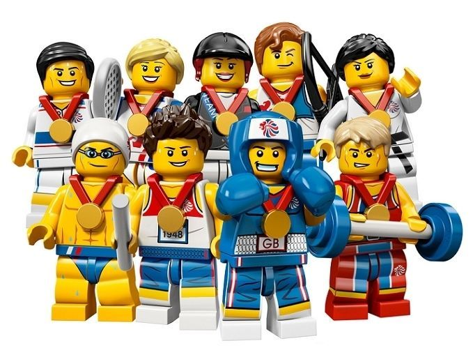 LEGO 8909 minifigure SERIES UK TEAM GB 2012 ARCHER BOXER TENNIS PLAYER GYMNAST
