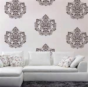 Image Result For Stencing A Living Room Wall · Damask Wall StencilsPaint ... Part 47