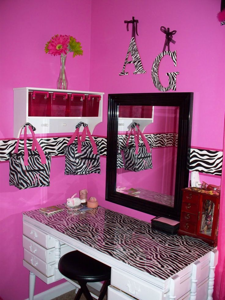 Mommy Lou Who: Hot Pink Zebra Room - : Zebra Print Bedroom Curtains,  Children's