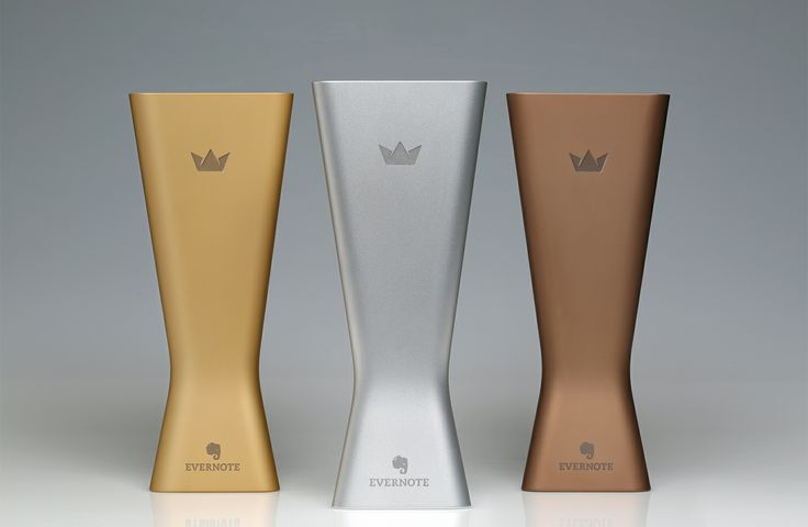 EC3 - #EC2013: Evernote DevCup Awards 2013. Gold. Silver. Bronze. Beautifully crafted from a solid block of aluminum. #EvernoteDesign