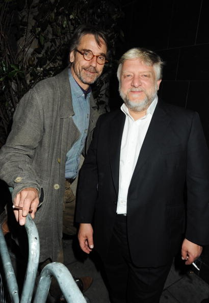 smokers & jokers...Jeremy Irons and Simon Russell Beale (The Cherry Orchard after party in London, 2009)