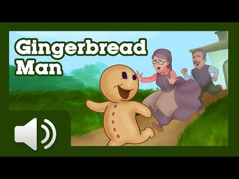 """RUN, RUN as fast as you can you can't catch me I""""M THE GINGERBREAD MAN! watch 'The Gingerbread Man Story for children'. Short Stories Collection: http://bit...."""