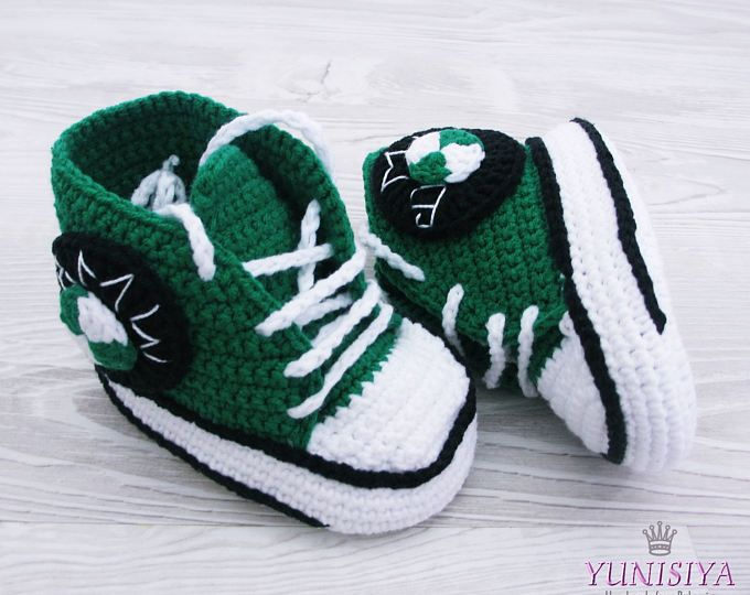 Verde Crochet bebé zapatos deportivos coche niño, patucos ganchillo, zapatos de niño de bebé del ganchillo, regalos de bebé, zapatos de bebé, 0-3, 3-6 meses BB17